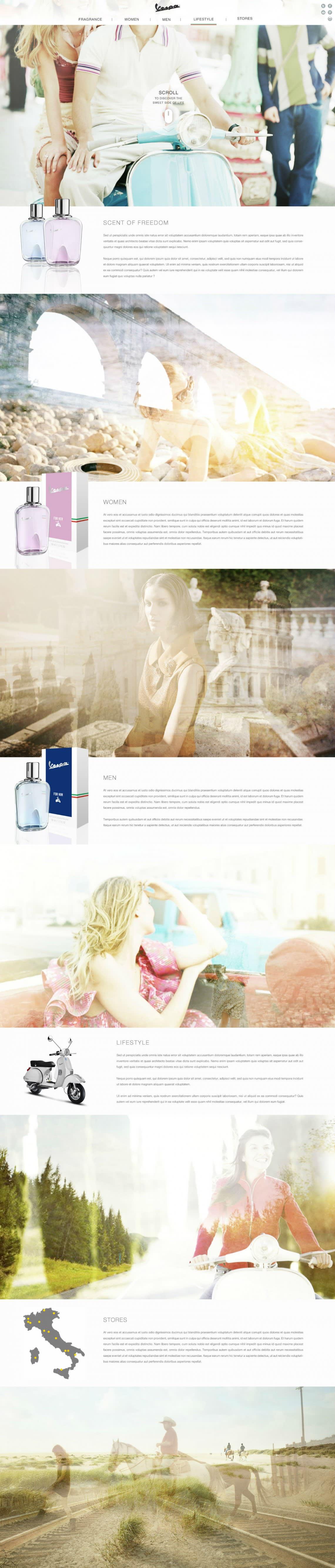 Vespa Fragrance Conception,Stratégie,Direction Artistique,Webdesign