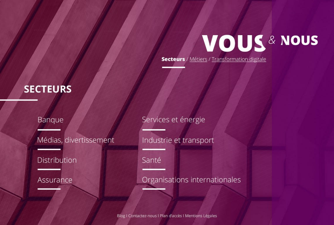 Cabinet de consultants – Site internet Conception,Direction Artistique