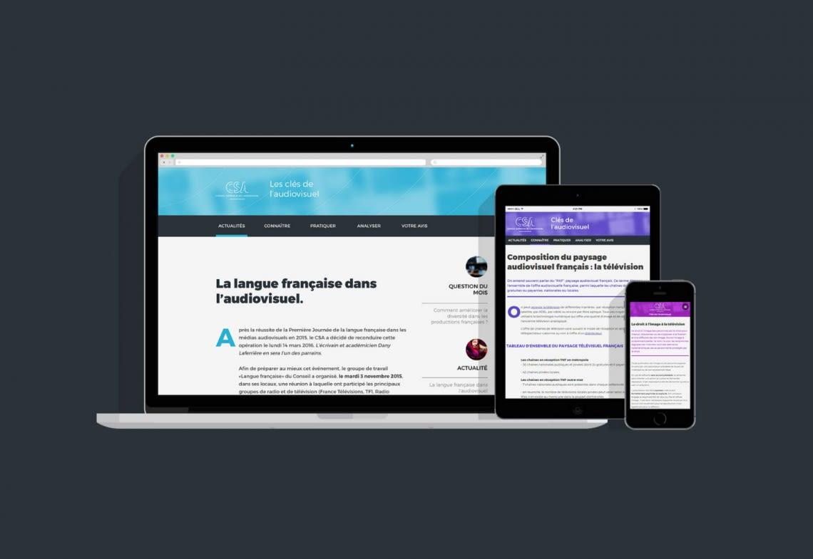 CSA – Les clés de l'audiovisuel Direction Artistique,Webdesign,Accessibilité