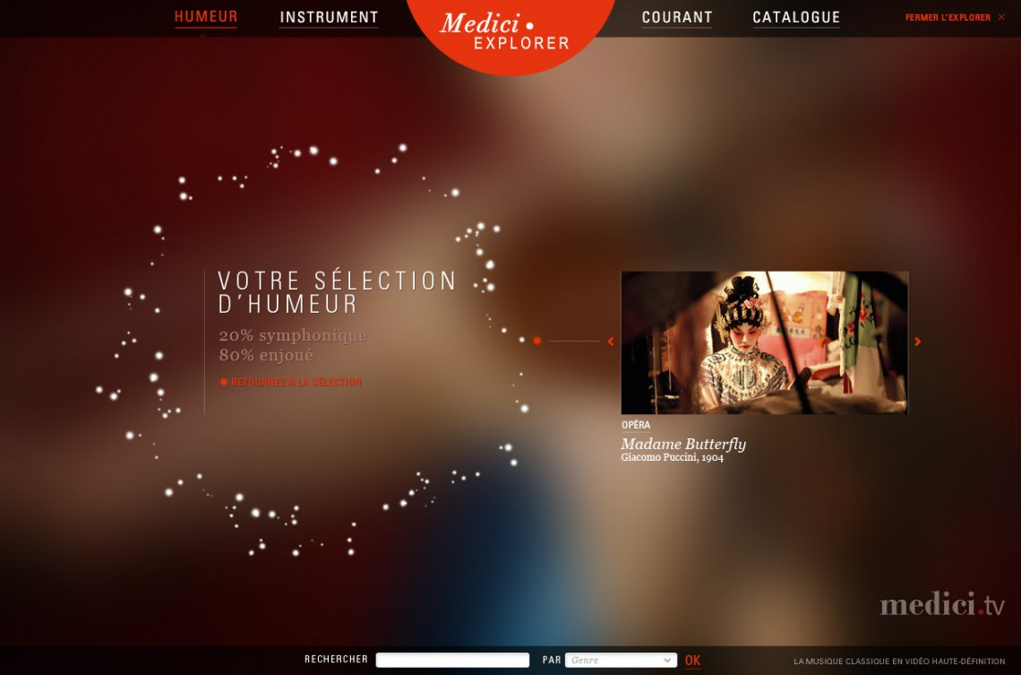 Medici.tv Webdesign,UX