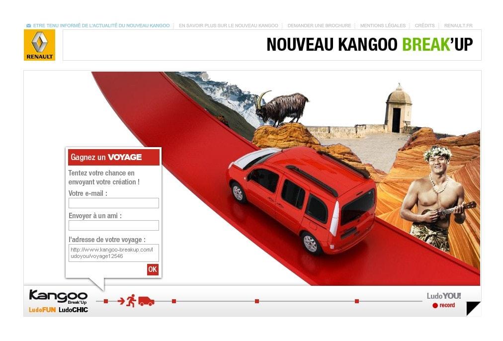 Mini-sites Renault Direction Artistique,Webdesign,UX