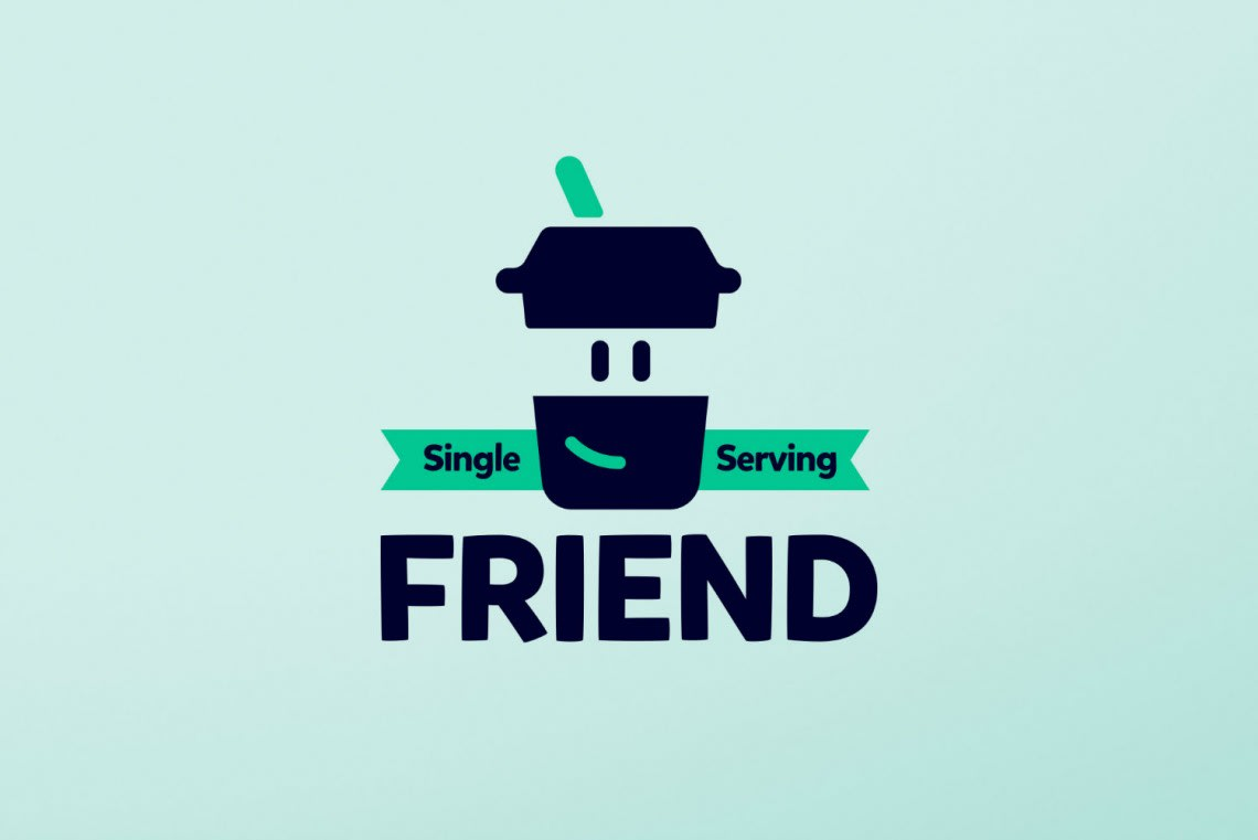 Single Serving Friend Conception,Direction Artistique,Identité,Bricolage,Logo