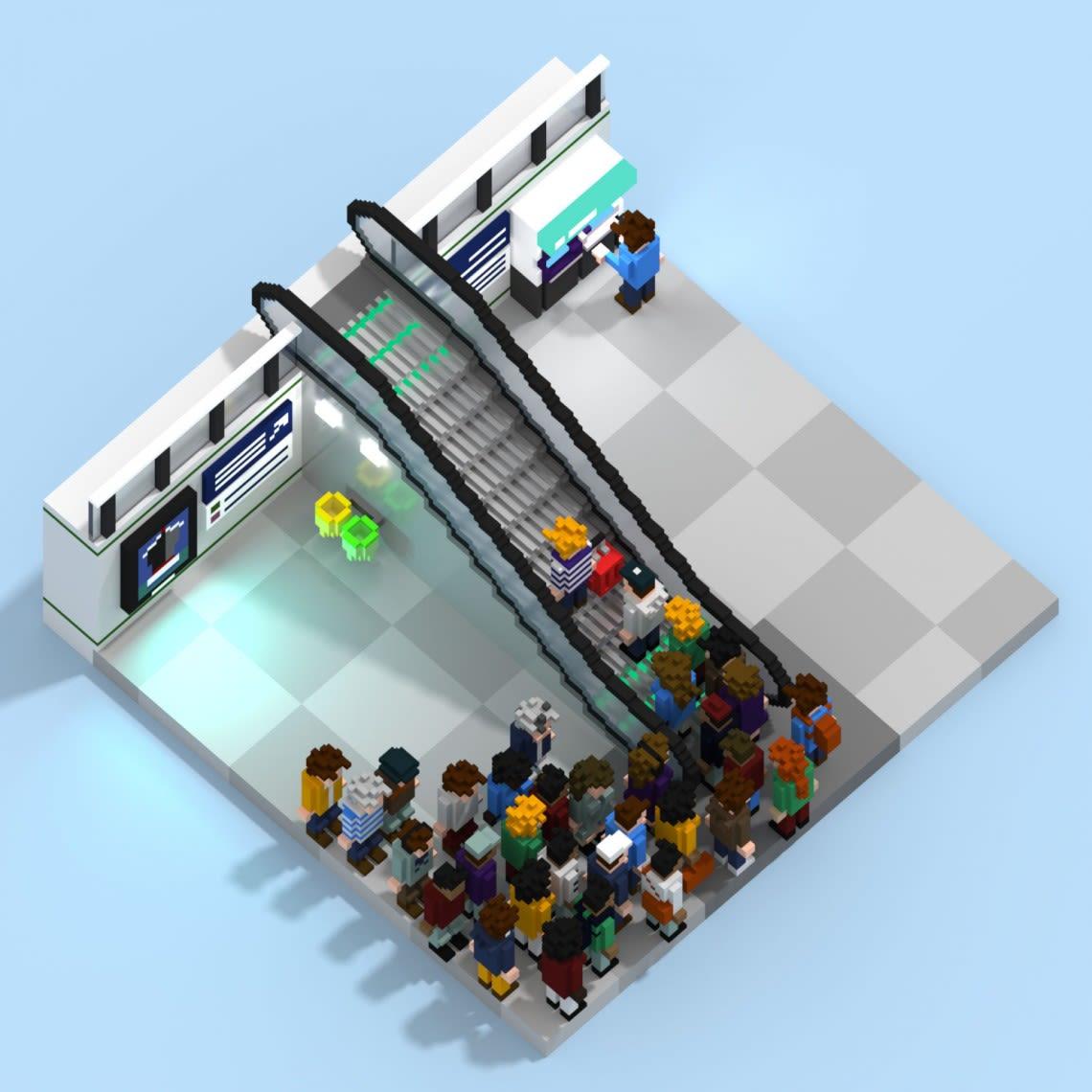 Voxels frais, voxels variés Conception,Direction Artistique,3D,Voxel,Illustration