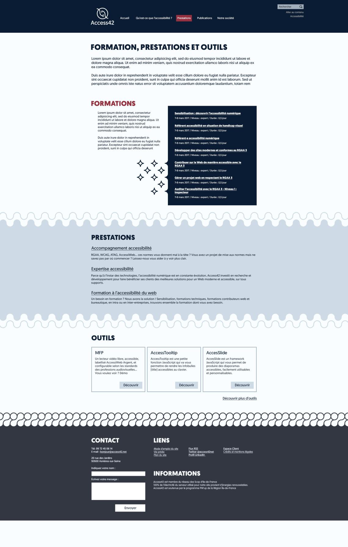 Site internet Access42 Direction Artistique,Webdesign,UX,Accessibilité