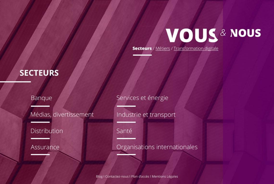 Cabinet de consultants – Site internet Conception,Direction Artistique