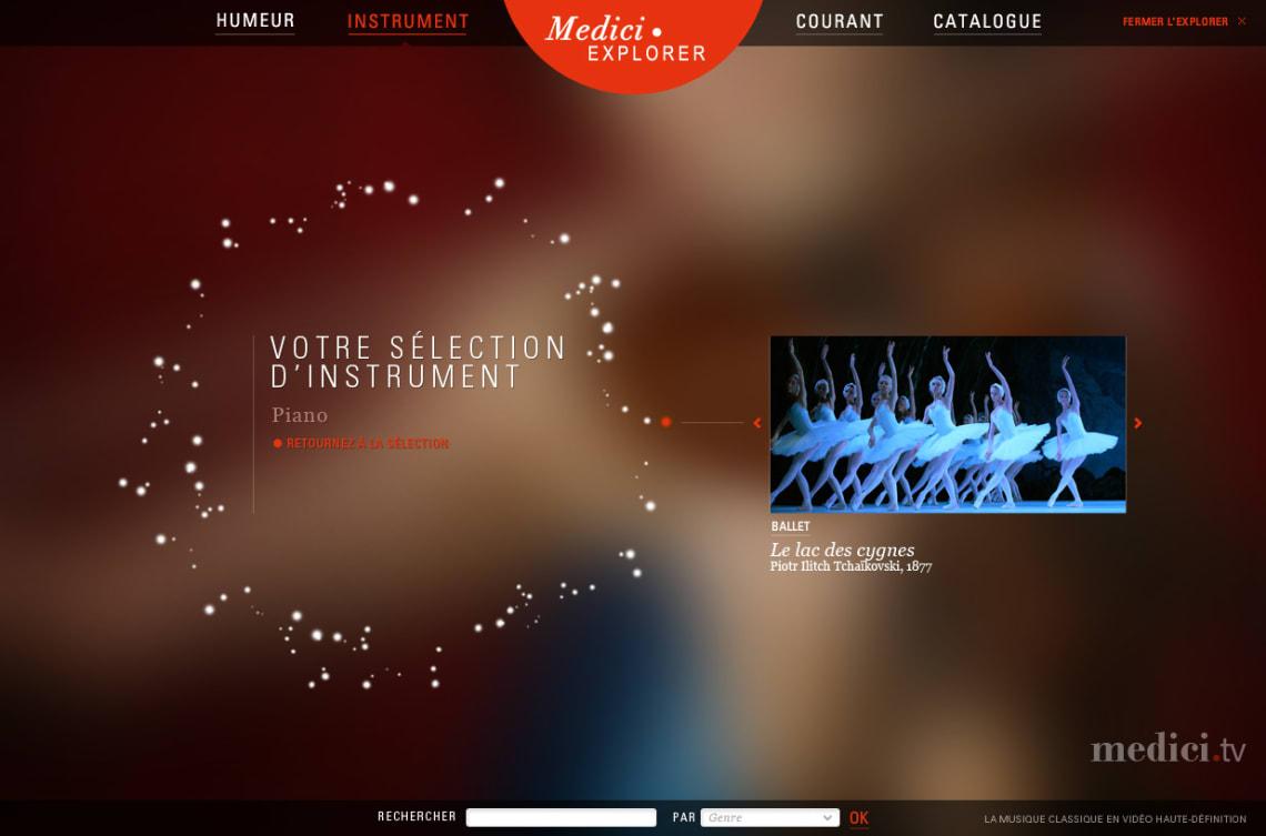 Medici.tv Webdesign,UX