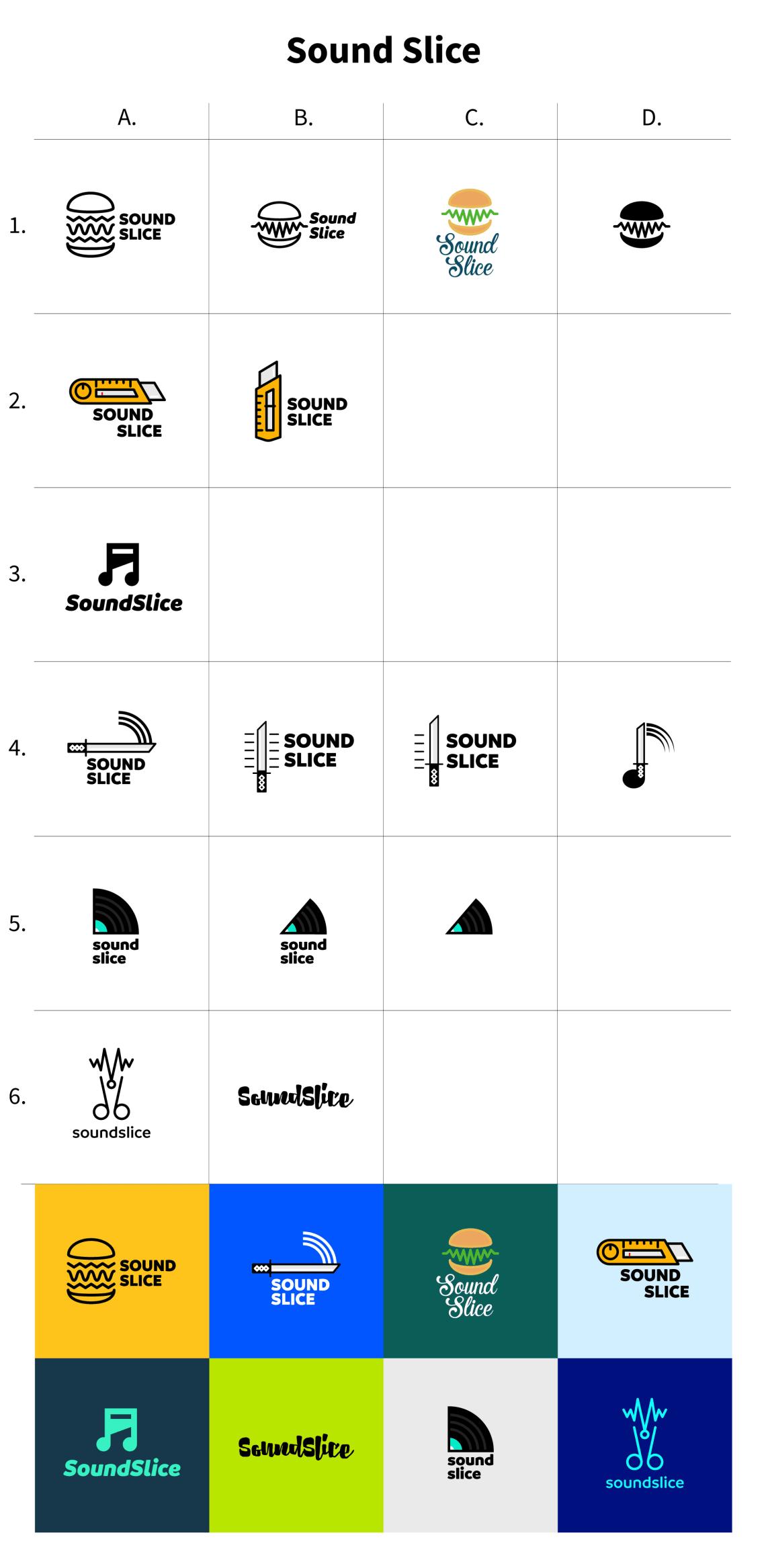 Identité visuelle Soundslice Conception,Direction Artistique,Logo,Identité