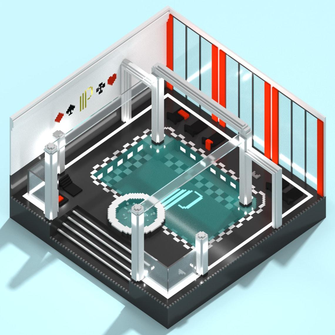 Jeu Instagram - Casinos Partouche Conception,Direction Artistique,Illustration,3D,Voxel
