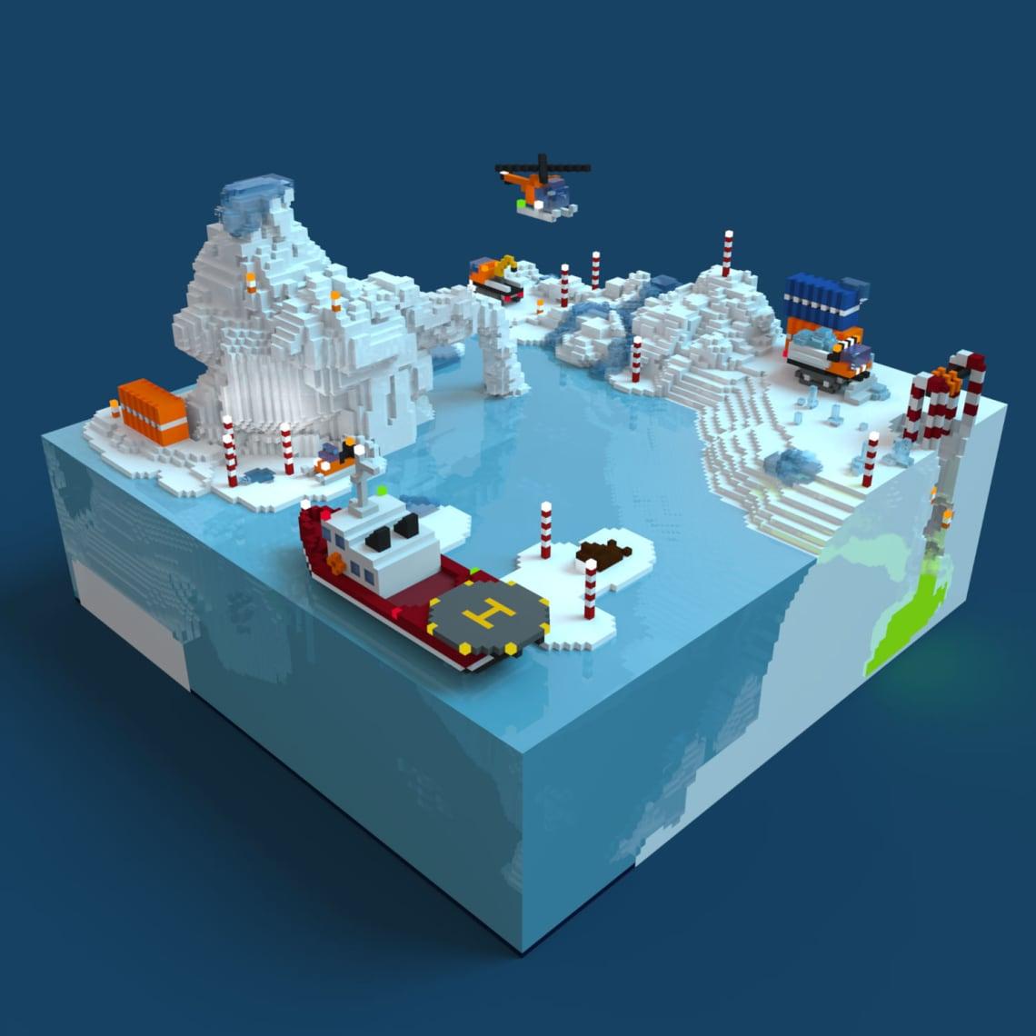 Forage Arctique Conception,Direction Artistique,3D,Voxel