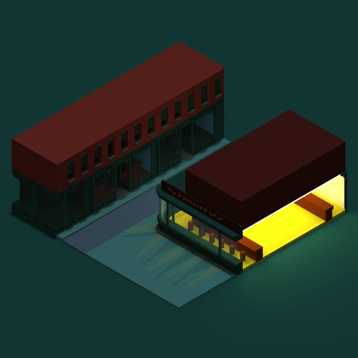 Nightvoxels Conception,Direction Artistique,3D,Voxel,Illustration