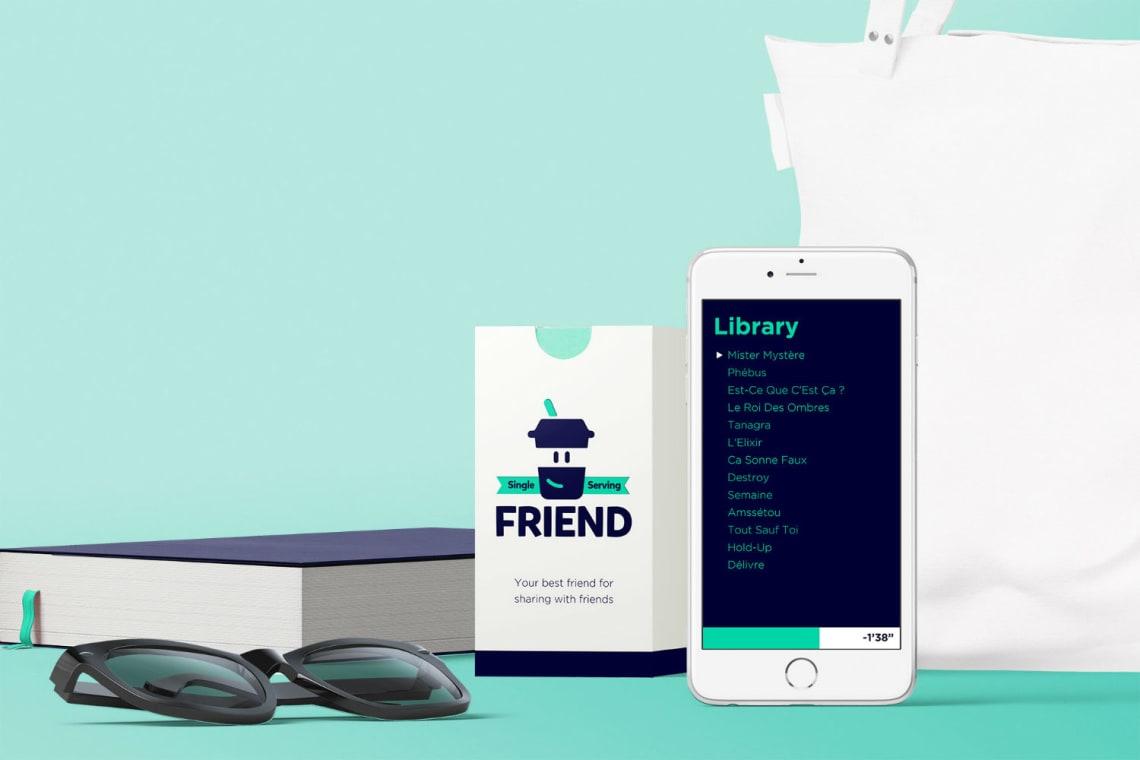 Single Serving Friend Conception,Direction Artistique,Identité,Bricolage,Logo