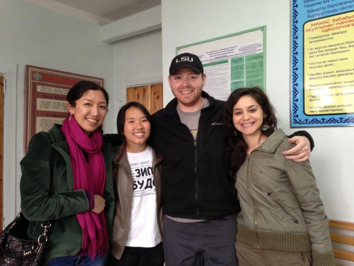 Team Kloop visits me! From left