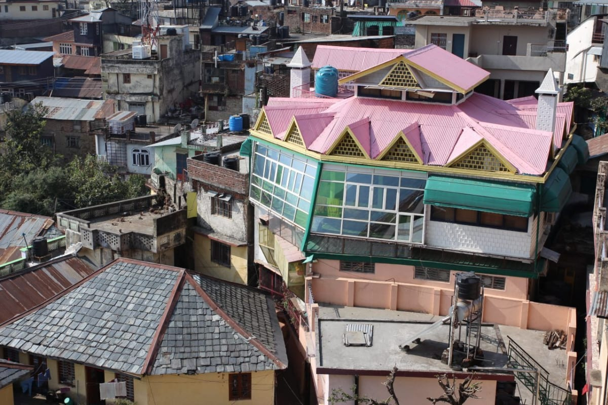 Tiny streets. Big Roofs. In Dharamshala India