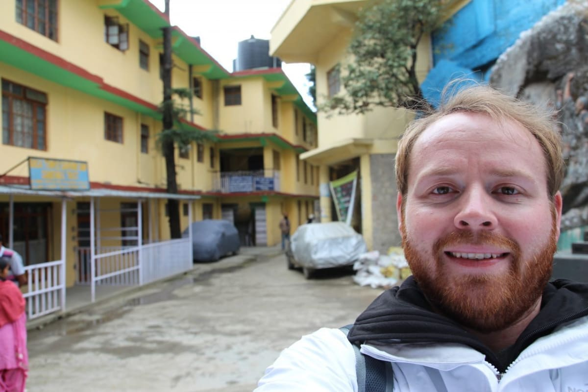 A selfie in Dharamshala India