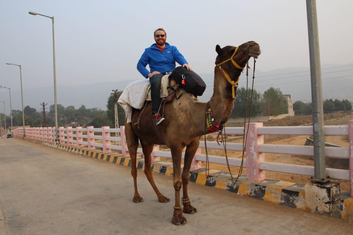 Pushkar Rajasthan India On Camel