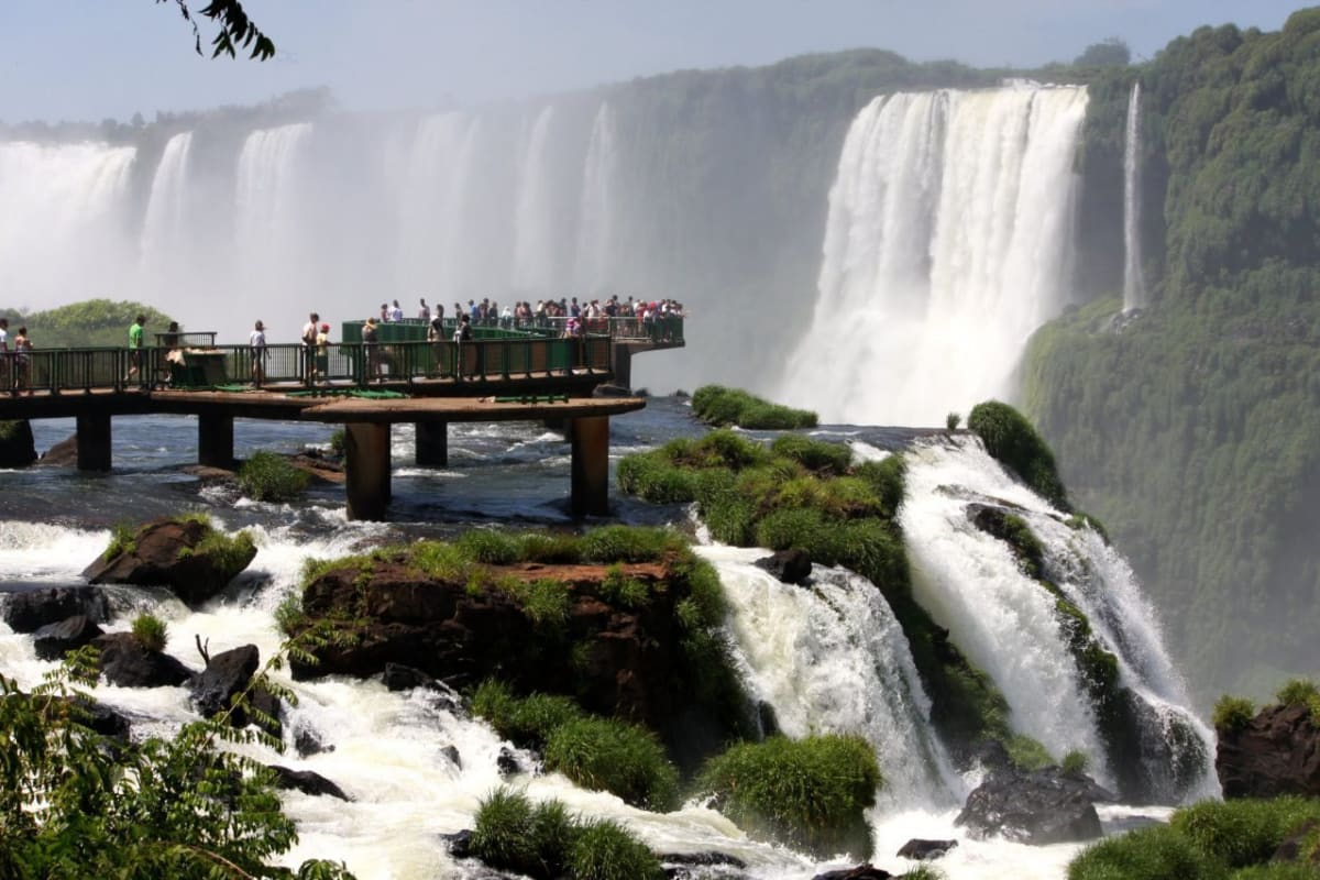 Observation Deck at the Iguazu Falls
