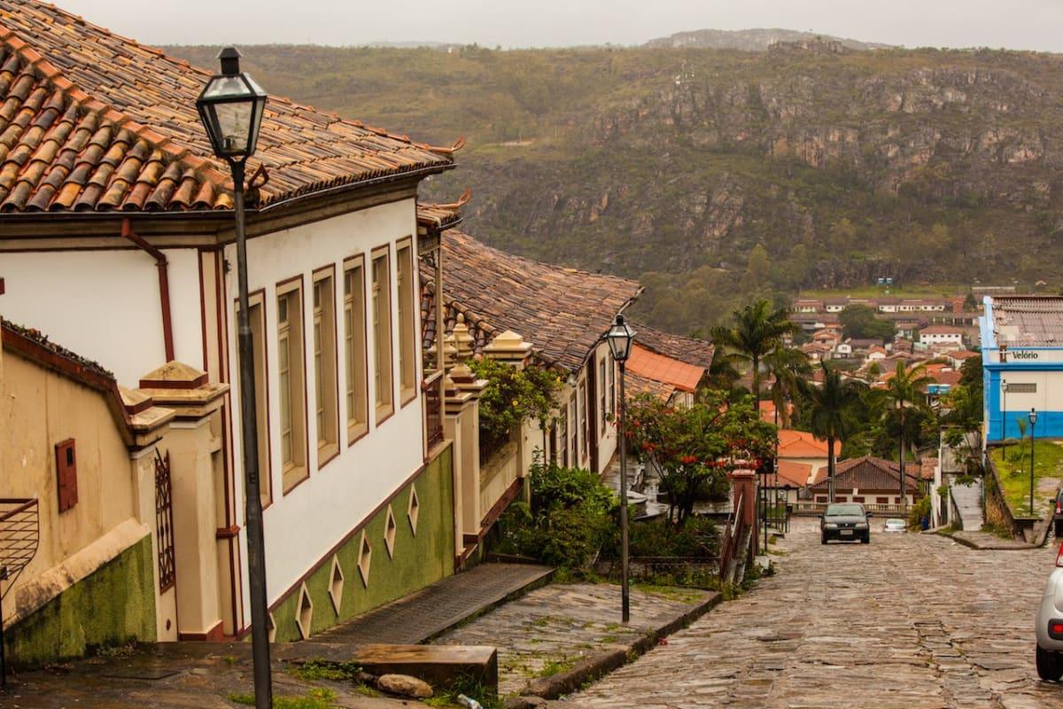 Diamantina, Minas Gerais, Brazil, Steep Streets Landscape