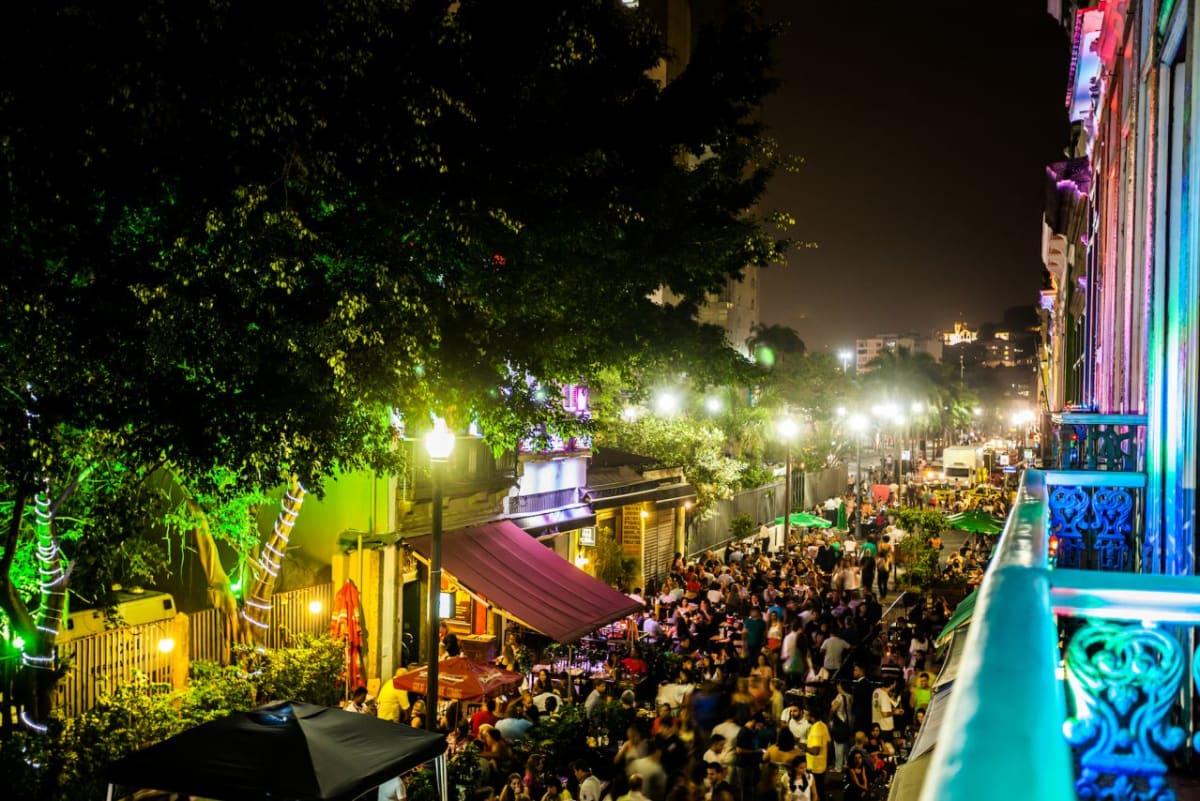 Rio de Janeiro, Brazil, Central Nightlife.