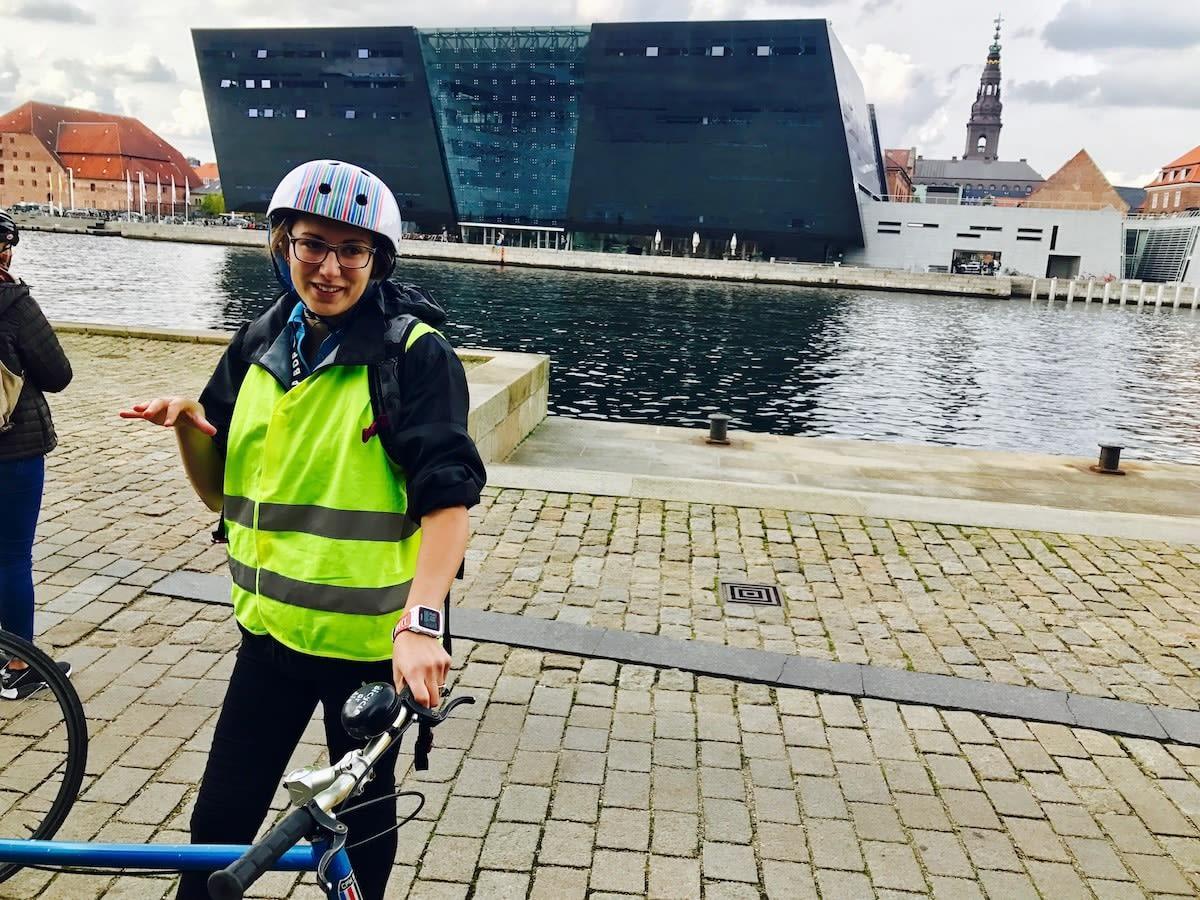Julia, our Copenhagen bike tour guide