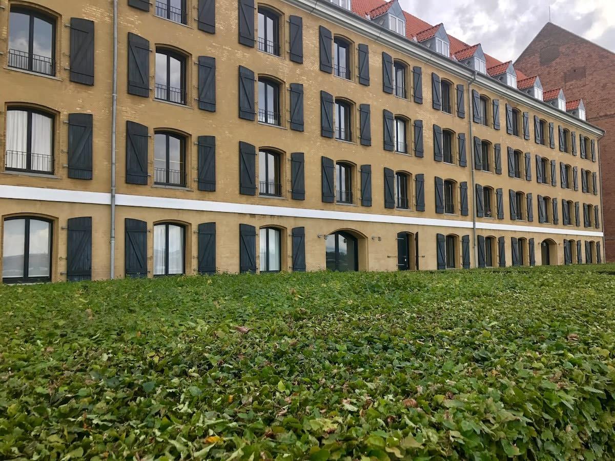 Town homes along the water in Copenhagen
