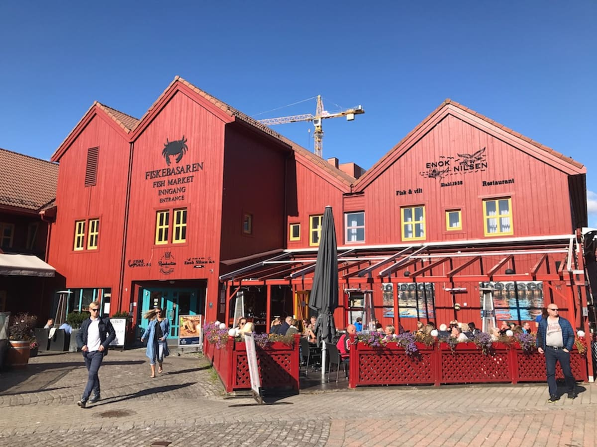 The Fish Market in the Kristiansand, Norway town center
