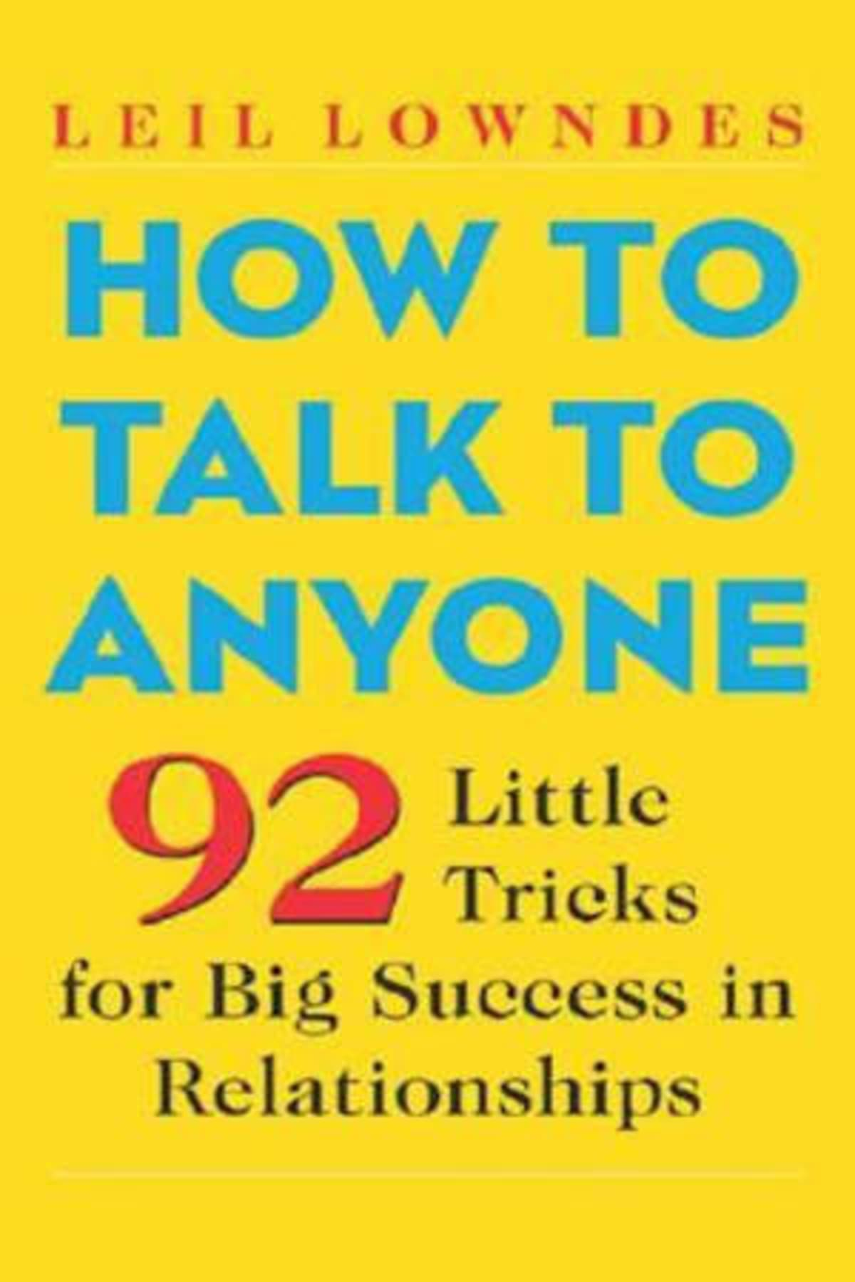 Book cover of How to Talk to Anyone by Leil Lowndes