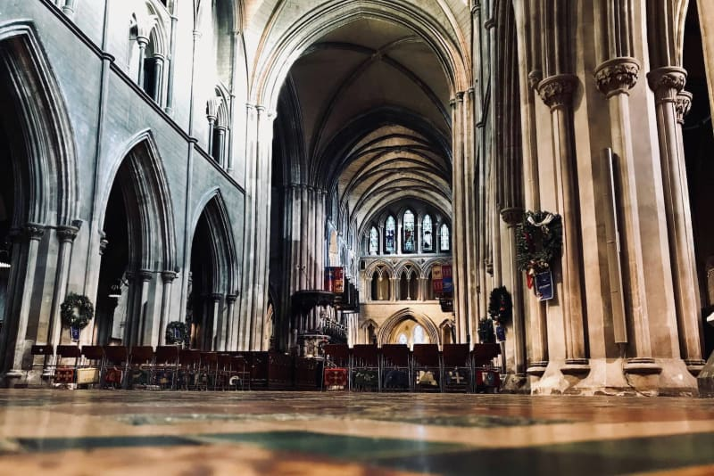 A view of the interior of St. Patrick's Cathedrial