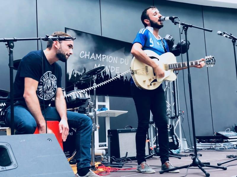 Champion du Monde performs at the trivagoVibe in Düsseldorf