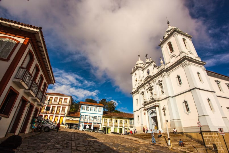 Diamantina, Minas Gerais, Brazil, St. Anthony Cathedral Side