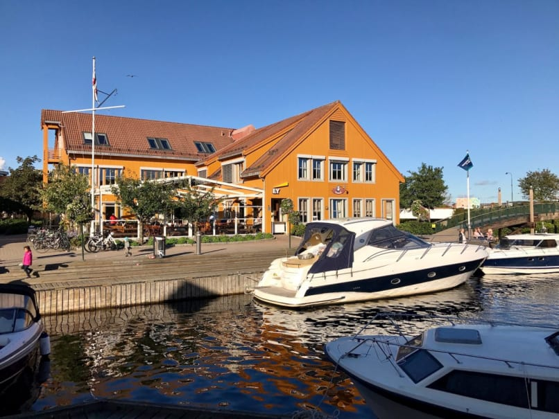The town center of Kristiansand, Norway