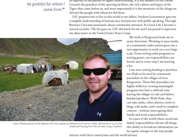 LSU Alumni Magazine Article – Winter 2011