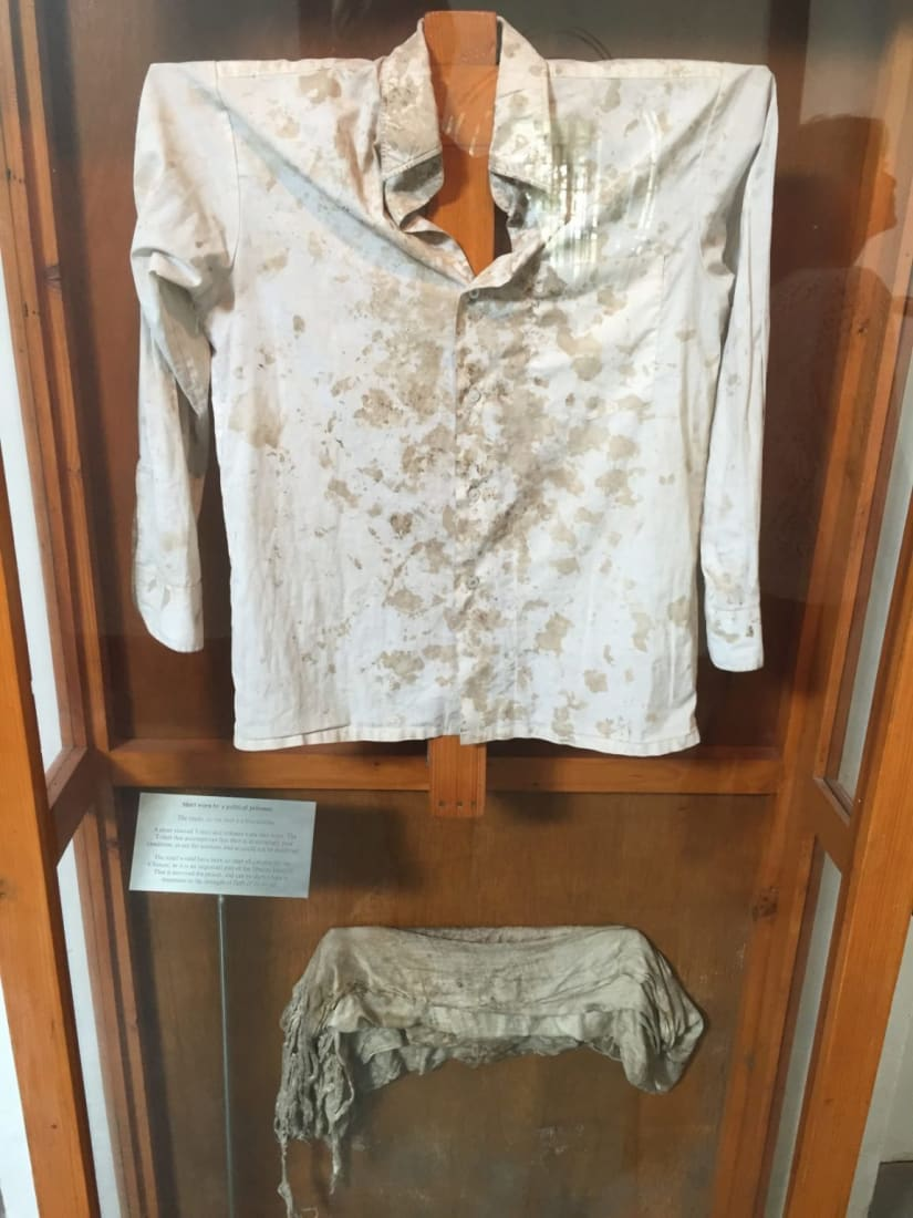Blood-stained shirt in Dharamshala India