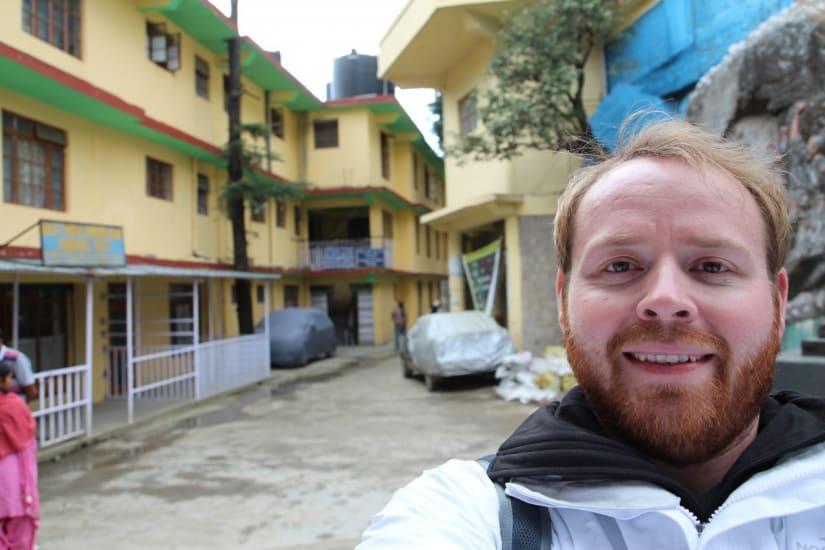 A selfie in Dharamshala India