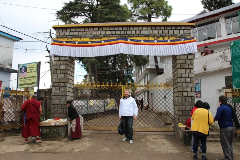 The gates to the Temple of the Dalai Lama in Dharamshala India