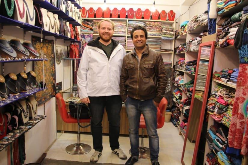 A shopkeeper in Dharamshala India