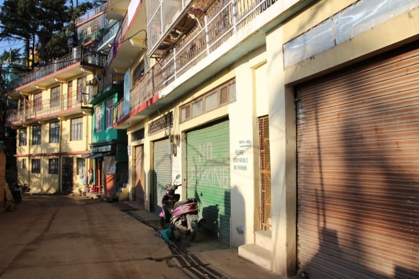 The shops of Dharamshala India