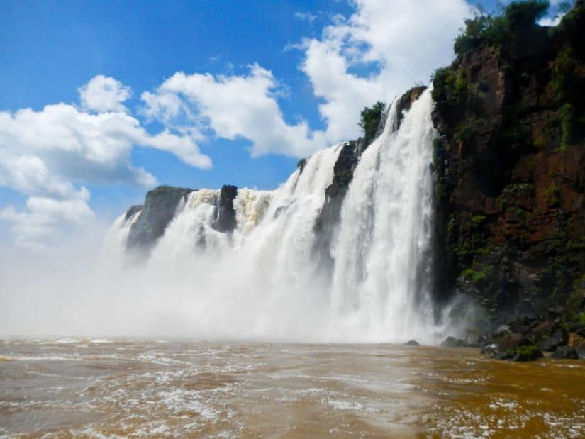 Iguazu Falls view from below