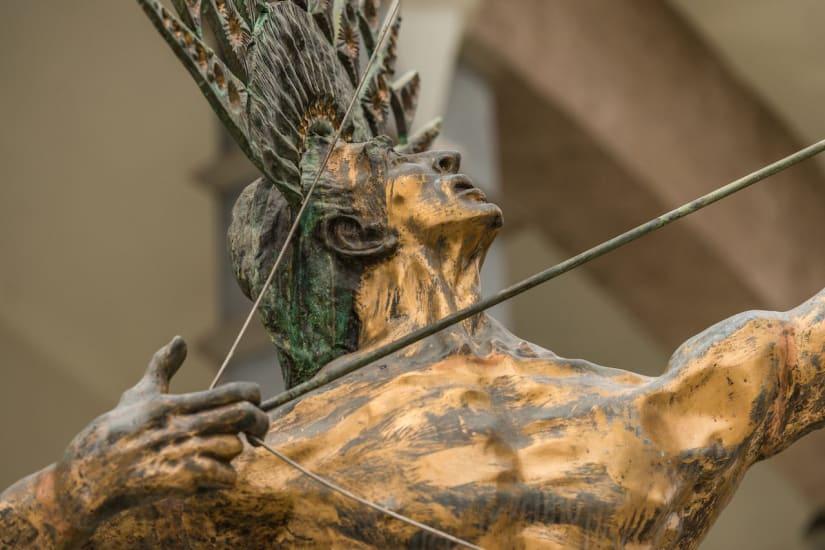 Blumenau, Santa Catarina, Brazil, Golden Statue
