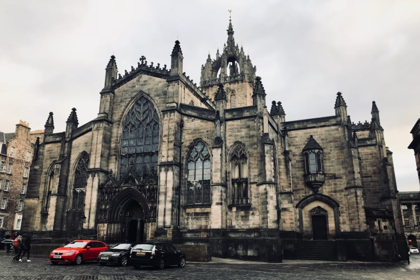 A Photo of the front of St Giles' Cathedral in Edinburgh