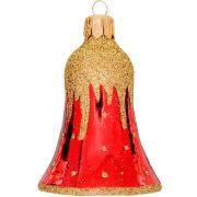 Bjelle Golden cap rød 6cm