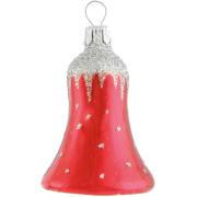 Bjelle Silver cap rød 6cm