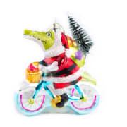 Hengepynt krokodille på sykkel