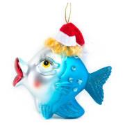 Hengepynt fisk med nissehatt