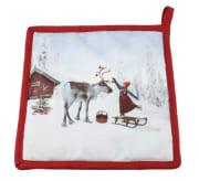 Gryteklut Anja pynter reinsdyret
