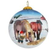 Julekule nisse og hester