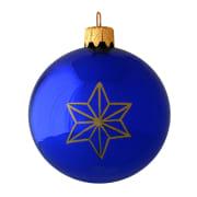 Kule 3 stjerner blå 8 cm