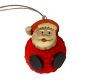 Pompom julenisse rød BF