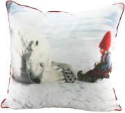 Pute med fyll Anja leser for isbjørnen Juledrømmen