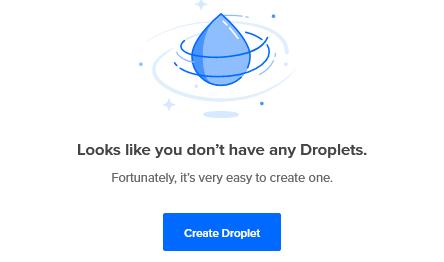 Digitalocean Emptry Droplets