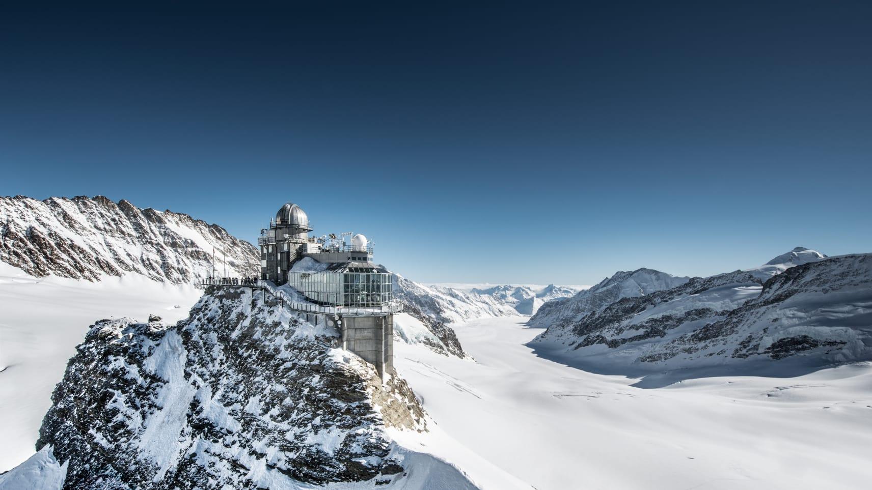 Jungfraujoch Aletschgletscher Sphinx Plattform